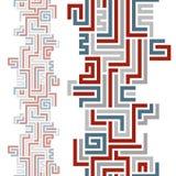 Geometrisk bakgrund med sömlösa vertikala beståndsdelar Royaltyfria Foton