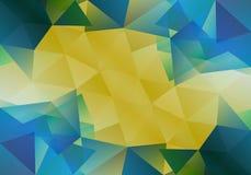 Geometrisk bakgrund med triangulära polygoner Abstrakt design också vektor för coreldrawillustration Fotografering för Bildbyråer