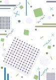 Geometrisk bakgrund memphis med linjer och fyrkanter Vektor dåligt royaltyfri illustrationer