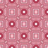 geometrisk bakgrund Röd och beige sömlös modell