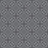 Geometrisk bakgrund - sömlös vektormodell i gråa färger Dekorativ tapetmodell Royaltyfri Foto