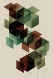 geometrisk bakgrundskub Royaltyfri Fotografi