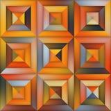 Geometrisk belägga med tegel trottoar för rasterlutning i orange skuggor Royaltyfria Foton