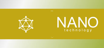 Geometrisk beståndsdel, Nano tehnologylogo Royaltyfria Bilder