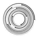 Geometrisk best?ndsdel f?r koncentrisk cirkel ocks? vektor f?r coreldrawillustration royaltyfri illustrationer