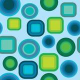Geometrisk blått- och gräsplanmodell Royaltyfria Bilder