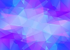 Geometrisk blått- och violetbakgrund med triangulära polygoner Abstrakt design också vektor för coreldrawillustration Arkivbilder