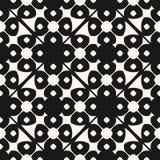 Geometrisk blom- dekorativ modell för vektor Sömlös svartvit textur stock illustrationer