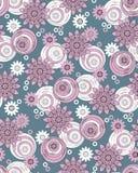 Geometrisk blom- design för sömlös tappning royaltyfri illustrationer