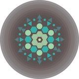 Geometrisk blomma på en grå bakgrund Fotografering för Bildbyråer