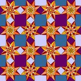 Geometrisk blommamodell Arkivbild