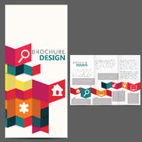 Geometrisk broschyrorienteringsdesign royaltyfri illustrationer