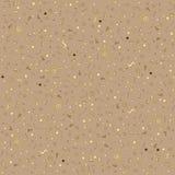 Geometrisk brun bakgrund för abstrakt mode med guld- beståndsdelar Royaltyfri Bild