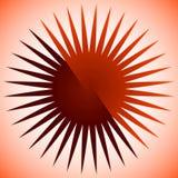Geometrisk cirkelbeståndsdel av radiella linjer Bristning av linjer applicera Arkivfoto