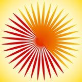 Geometrisk cirkelbeståndsdel av radiella linjer Bristning av linjer applicera Royaltyfri Fotografi