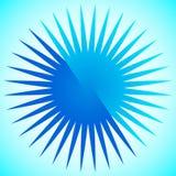 Geometrisk cirkelbeståndsdel av radiella linjer Bristning av linjer applicera Arkivbild