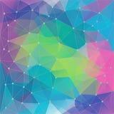 Geometrisk colorfullbakgrund för abstrakt poligon som består av trianglar vektor illustrationer