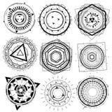Geometrisk dekorativ formbeståndsdel för tråd Arkivbild