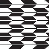 Geometrisk dekorativ svartvit modell vektor illustrationer