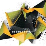 Geometrisk design för triangel 3d, abstrakt bakgrund Royaltyfri Illustrationer