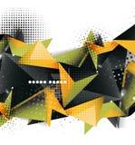 Geometrisk design för triangel 3d, abstrakt bakgrund Vektor Illustrationer
