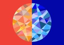 Geometrisk diamantmodell, geometriska cirklar Royaltyfri Foto