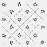 Geometrisk enkel svartvit minsta modell, utrymme, sol vektor illustrationer