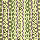 Geometrisk etnisk modell med trianglar Royaltyfri Fotografi