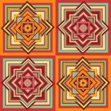 Geometrisk etnisk sömlös modell stock illustrationer