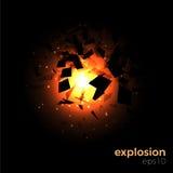 Geometrisk explosion för utrymme Arkivfoton