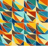 Geometrisk färgbakgrundsmodell Royaltyfri Fotografi
