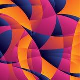 Geometrisk färgrik bakgrund för begrepp med kurvformer och akademikert royaltyfri illustrationer