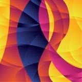 Geometrisk färgrik bakgrund för begrepp med kurvformer och akademikert stock illustrationer
