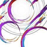 Geometrisk färgrik collage royaltyfri illustrationer