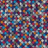 Geometrisk färgrik kvadrerad labyrintbakgrund, rhombic seaml för vektor Royaltyfria Bilder