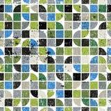 Geometrisk färgrik labyrintkanfas, vektor slet abstrakt sömlöst Royaltyfri Bild