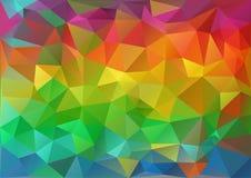 Geometrisk färgrik modell royaltyfri illustrationer