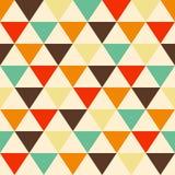 Geometrisk färgrik modell för plan vektor för tappning sömlös vektor illustrationer