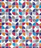 Geometrisk färgrik tulpankanfas för vektor, slitit abstrakt sömlöst Royaltyfri Bild
