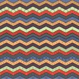 Geometrisk flerfärgad sparre eller sicksack, sömlös stam- modell stock illustrationer