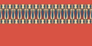 Geometrisk folkloreprydnad Etnisk vektortextur Dekorativt band i tappningstil Coloful illustration royaltyfri illustrationer