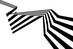 Geometrisk form för abstrakt svartvitt band för band vridet Royaltyfri Bild