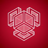 Geometrisk form för abstrakt vektor, idérik form 3D Royaltyfri Foto