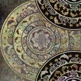 Geometrisk form för bakgrundshavslag, guld- färg Royaltyfri Fotografi