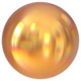 Geometrisk form för guld- för sfärrundaknapp cirkel för boll grundläggande stock illustrationer