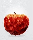 Geometrisk form för rött äpple. Arkivfoto