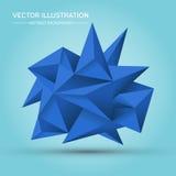 Geometrisk form för volym Abstrakt polygonal geometrisk form Royaltyfria Bilder