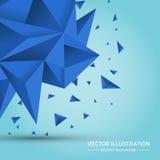 Geometrisk form för volym Abstrakt polygonal geometrisk form Royaltyfria Foton