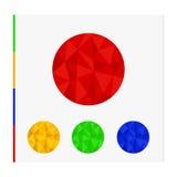 Geometrisk form från trianglar Uppsättningen av cirklar Royaltyfri Fotografi