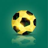 Geometrisk fotbollboll Arkivfoto
